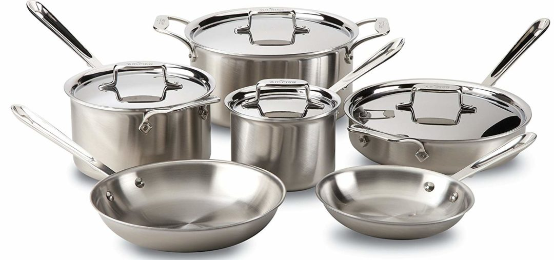 All-Clad BD005710-R D5 Brushed 18/10 Stainless Steel 5-Ply Bonded Dishwasher Safe 10-Piece Cookware Set Review