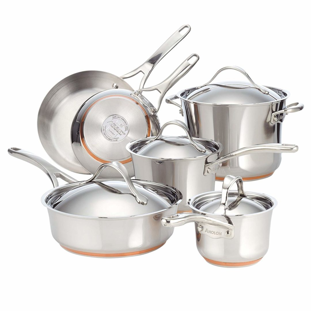 Anolon Nouvelle Copper Stainless Steel 10-Piece Cookware Set Review