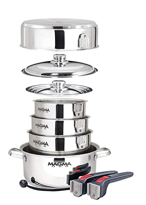 Magma Products, A10-360L-IND, 10 Piece Gourmet Nesting Stainless Steel Cookware Set Review