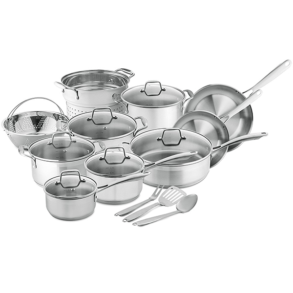 Chef's Star Stainless Steel 17 Piece Pots & Pans Set
