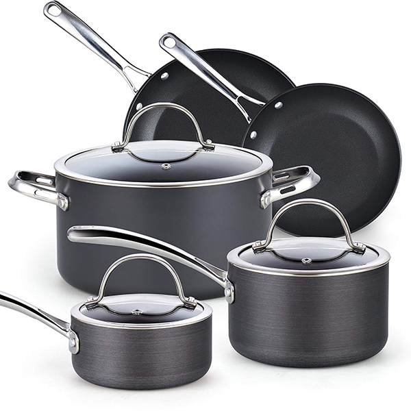 Cooks Standard 02487 Non-stick Hard Anodized Cookware Set