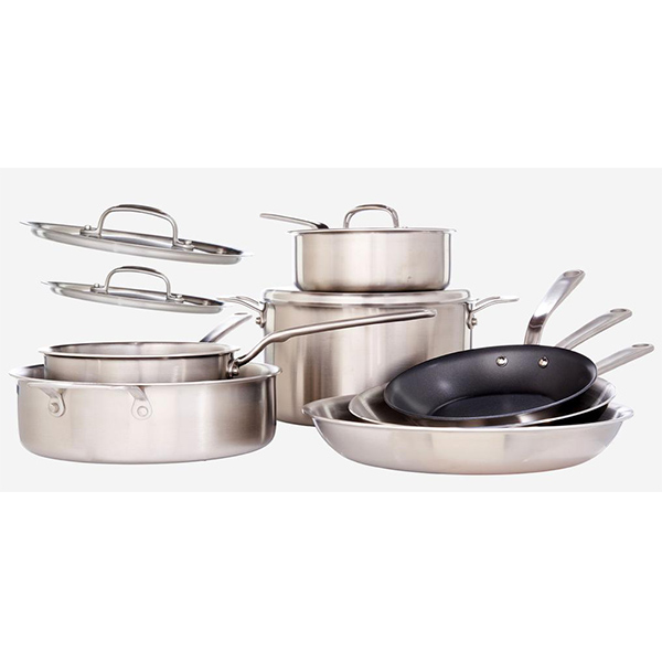 Made in Kitchen Sink Stainless-Steel 11-piece Cookware Set