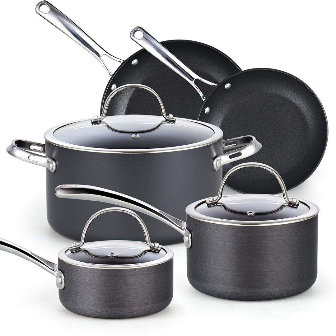 The Cooks Standard 02487 Non-stick Hard Anodized Cookware Set