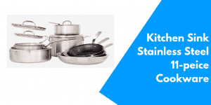 The Made in Kitchen Sink Stainless-Steel 11-piece Cookware Set