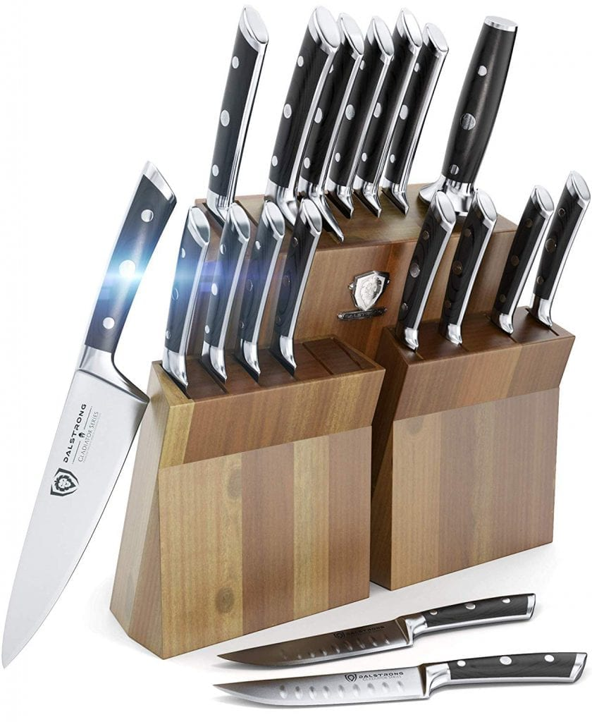 Dalstrong professional knife set for chefs